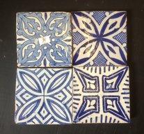 Handmålat kakel från marocko